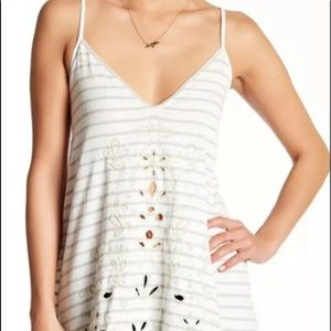 Free People seafaring Embroidered Eyelet Lace top
